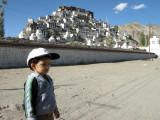 Rahil at the Thikse Gompa (monestary).