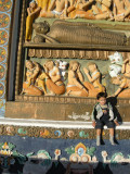 At Shanti Stupa.