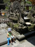 Resting at the Water Temple outside of Ubud.