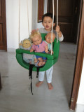 Swinging dolls.
