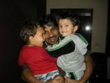 Lucas, Lucas's Dad, and Rahil
