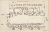 New York City 20 Dog Bus original Booth cartoon