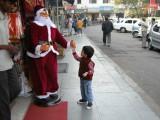 Whoa -- life sized dancing Santa!