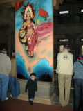 With the Mother India painting.
