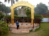 This huge bell is rung twice a day and cost the princely sum of one crore (10,000,000 rupees).