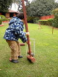 First game of croquet!