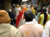 Among the Sunday crowds going to the ghats.