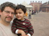 Dad and Rahil inside Fatehpur