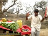 Roadside vegetable seller