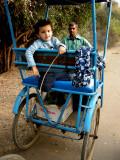 Rahil in bicyclerickshaw at Keoladeo