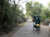Rahil in Keoladeo bicycle rickshaw