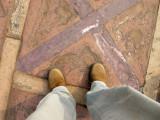 Atop a Parcheesi square at Fatehpur Sikri, India (January 18, 2009)