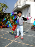 With one of many kites