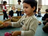 Rahil at music class