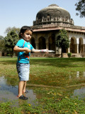 Practicing for Holi at Sikander Lodhi Tomb