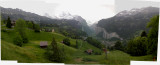 Panoramic view of Lauterbrunnen on the way back from Jungfraujoch