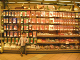 A small portion of the packaged meat section
