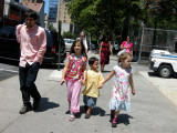 On the way to Central Park with Elena and Rosa, among others.