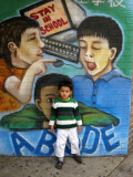 A Lower East Side mural exhorting kids to stay in school.