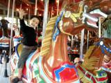 On the Central Park carousel