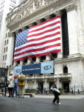 The very patriotic New York Stock Exchange