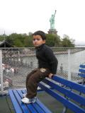 On the way to Liberty Island!