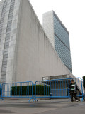 The United Nations.  Not shown:  the seventy six police cars on the street outside.