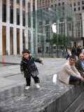 At the Fifth Avenue Apple store, seeking refuge from the obnoxious gaurds