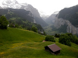 View of Lauterbrunnen from the train