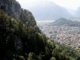 View of Interlaken from a paraglider