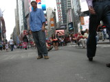 Photo of Dad in Times Square by Rahil