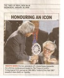 Receiving India's lifetime achievement award in 2007