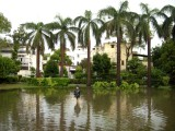 The park where Rahil and the Gang play.  Now entirely under water.