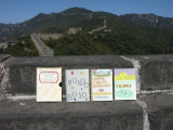 Three Small Books visit the Great Wall in September of 2009