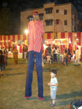 Fascinated by the guy on stilts at the Nizamuddin Diwali Mela