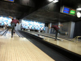 Rahil's photo of Dad bowling (13 Oct 2009)