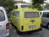 A modified VW bus.