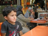 Stopping for juice outside the Grand Bazaar.
