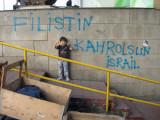 Graffiti arising from the May 2010 Gaza blockade episode.