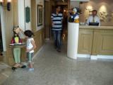 Inside the lobby of Hotel Cartoon.