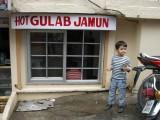 Gulab Jamun shop on the Mussorie pedestrian mall.