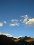 Moon at Sunrise Pangong Tso (29 July 2010)