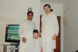 Amer, Rahil, Dad, celebrating Eid.