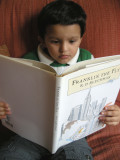 Rahil reading Franklin the Fly