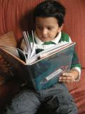 Rahil reading Fun Home
