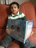Rahil reading The Alphabet from A to Y