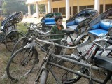 Contemplating a career as a bicycle rickshaw walla