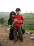 Rahil and Mom on the Nonsuch Tea Estate