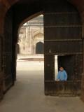 At Khair-ul-Manazil, a masjid once part of Purana Qila ('Old Fort')