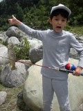 Caught his first trout!